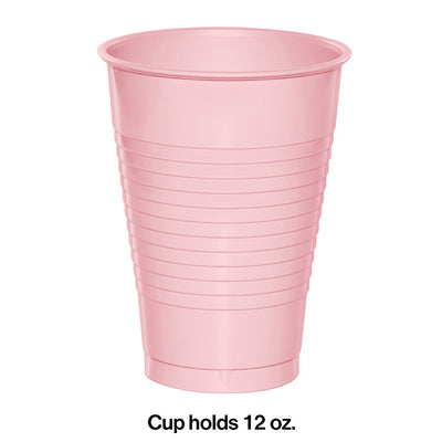 Classic Pink 12 Oz Plastic Cups, 20 ct Party Decoration
