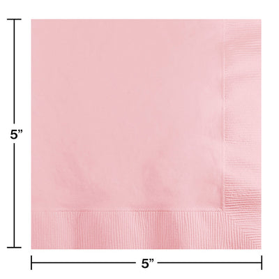Classic Pink Beverage Napkin 2Ply, 50 ct Party Decoration