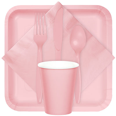 Classic Pink Plastic Knives, 24 ct Party Supplies