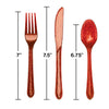 Glitz Red Plastic Cutlery Set, 24 ct Party Decoration