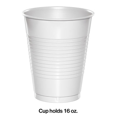 White Premium Plastic Cups 16 Oz., 20 ct Party Decoration