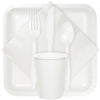 White Dinner Napkins 2Ply 1/8Fld, 50 ct Party Supplies