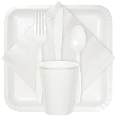 White Dinner Napkins 3Ply 1/4Fld, 25 ct Party Supplies
