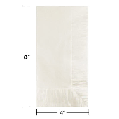 White Dinner Napkins 2Ply 1/8Fld, 50 ct Party Decoration