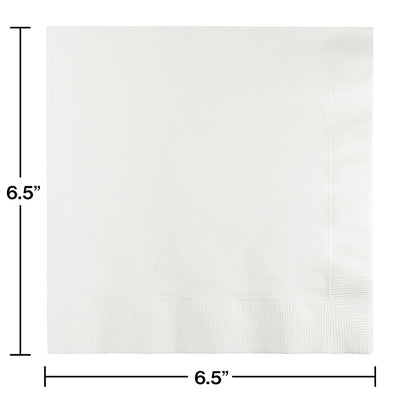 White Luncheon Napkin 2Ply, 50 ct Party Decoration