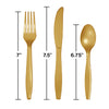 Glittering Gold Assorted Plastic Cutlery, 24 ct Party Decoration