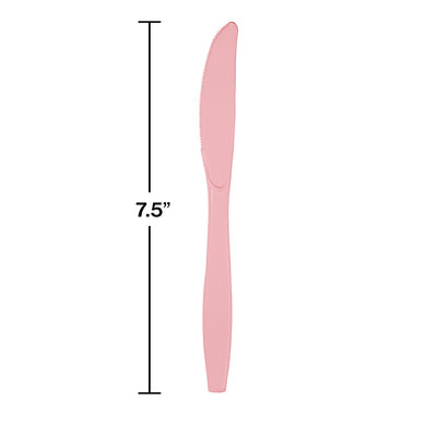 Classic Pink Plastic Knives, 24 ct Party Decoration