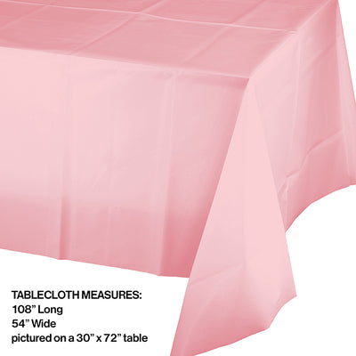 "Classic Pink Tablecover Plastic 54"" X 108"" Party Decoration"