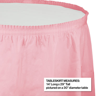 "Classic Pink Plastic Tableskirt, 14' X 29"" Party Decoration"