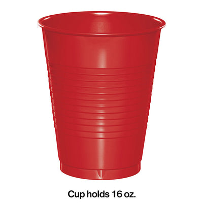 Classic Red Plastic Cups, 20 ct Party Decoration
