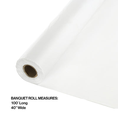 "White Banquet Roll 40"" X 100' Party Decoration"