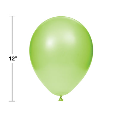 "Latex Balloons 12"" Fresh Lime, 15 ct Party Decoration"