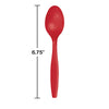 Classic Red Plastic Spoons, 50 ct Party Decoration