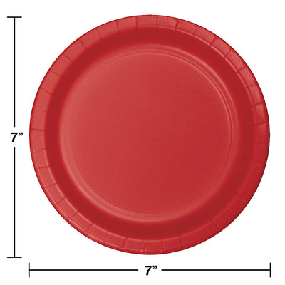 Classic Red Dessert Plates, 24 ct Party Decoration