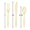 Ivory Assorted Plastic Cutlery, 24 ct Party Decoration
