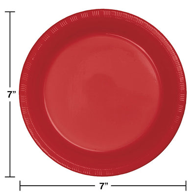 Classic Red Plastic Dessert Plates, 20 ct Party Decoration