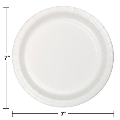 White Luncheon Plate, 24 ct Party Decoration
