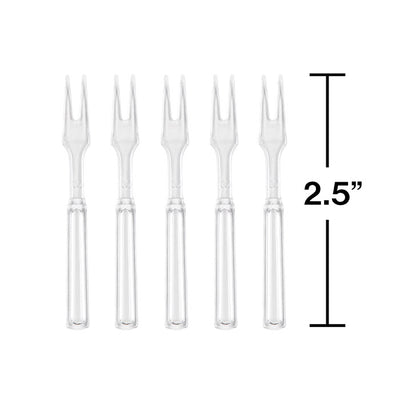 Clear Cocktail Forks, 30 ct Party Decoration