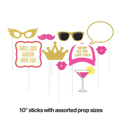 Girls Night Photo Booth Props, 10 ct Party Decoration