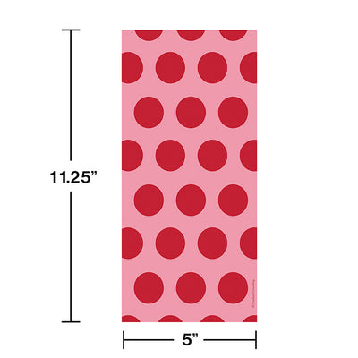 Classic Red Polka Dot Favor Bags, 20 ct Party Decoration
