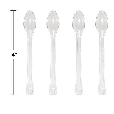 Clear Mini Appetizer Spoons, 24 ct Party Decoration