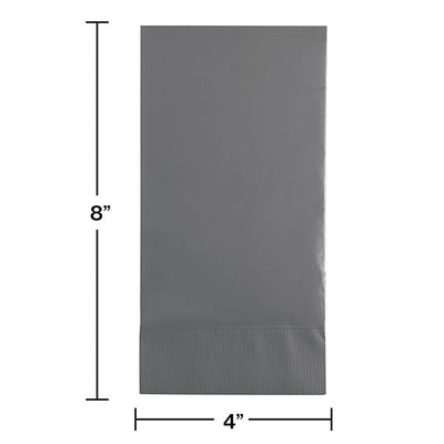 Glamour Gray Guest Towel, 3 Ply, 16 ct Party Decoration