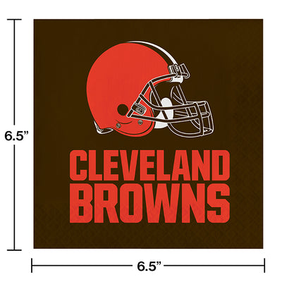 Cleveland Browns Napkins, 16 ct Party Decoration