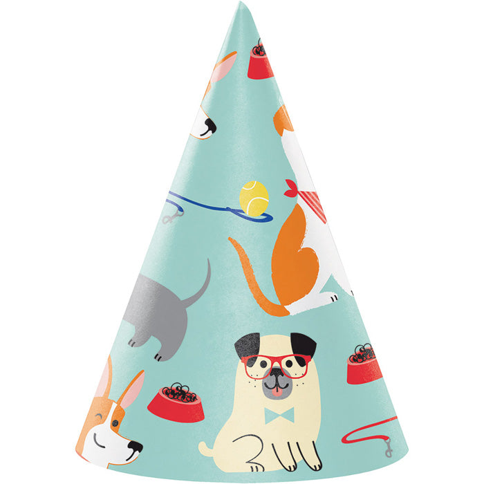 Dog Party Party Hats, 8 ct by Creative Converting