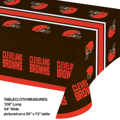 "Cleveland Browns Plastic Tablecloth, 54"" X 108"" Party Decoration"