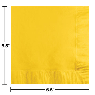 School Bus Yellow Napkins, 20 ct Party Decoration