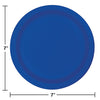 Cobalt Blue Dessert Plates, 24 ct Party Decoration