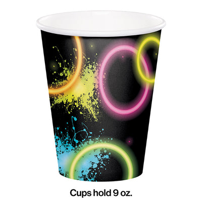 Glow Party Hot/Cold Paper Cups 9 Oz., 8 ct Party Decoration