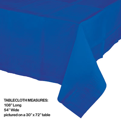 "Cobalt Tablecover 54""X 108"" Polylined Tissue Party Decoration"