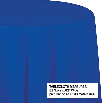 "Cobalt Tablecover, Octy Round 82"" Plastic Party Decoration"