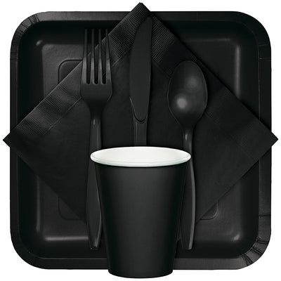 Black Plastic Forks, 24 ct Party Supplies
