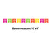 Serape Papel Picado Banner Party Decoration