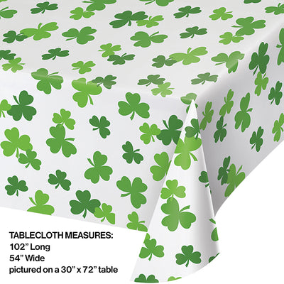 Shamrock Plastic Tablecloth Party Decoration