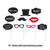 Chalkboard Photo Booth Props, 10 ct Party Decoration
