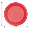 Coral Plastic Banquet Plates, 20 ct Party Decoration