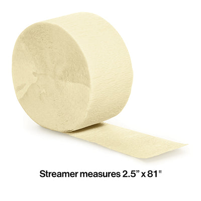 Ivory Crepe Streamers 81' Party Decoration