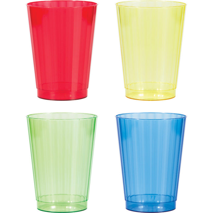 Asst Colors 12 Oz Plastic Cups, 12 ct by Creative Converting