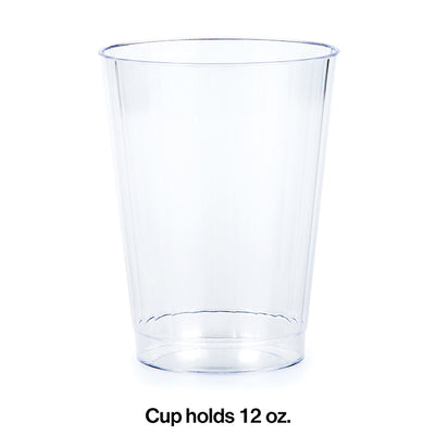 Clear Plastic Tumbler, 12 Oz, 8 ct Party Decoration