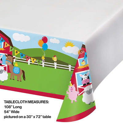 "Farmhouse Fun Tablecover Plastic 54"" X 108"" Party Decoration"