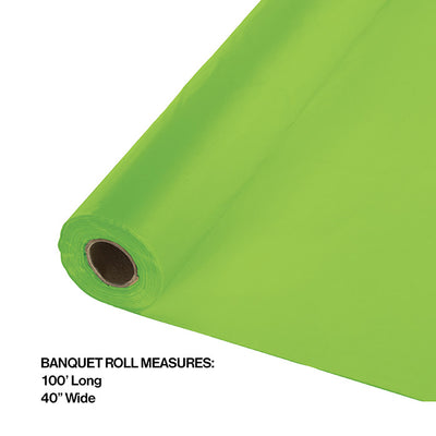 "Fresh Lime Banquet Roll 40"" X 100' Party Decoration"