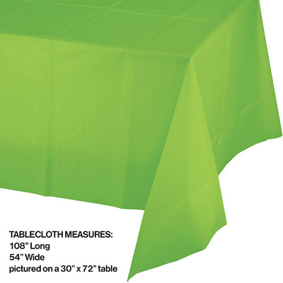 "Fresh Lime Tablecover Plastic 54"" X 108"" Party Decoration"