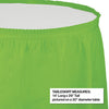 "Fresh Lime Plastic Tableskirt, 14' X 29"" Party Decoration"
