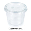 Clear 16Ct 5.5 Oz Portion Cups, Clear With Lid, 16 ct Party Decoration