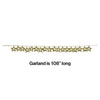 Gold Stars Foil Garland, 9 Ft. Party Decoration