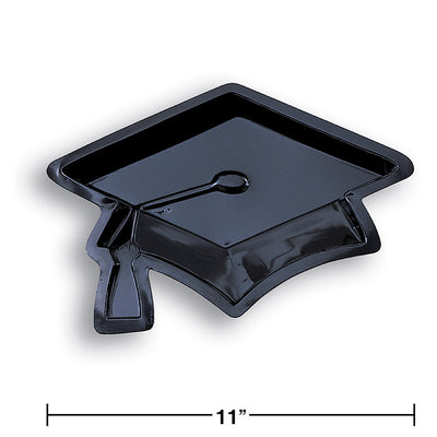 Mortarboard Graduation Serving Tray Party Decoration