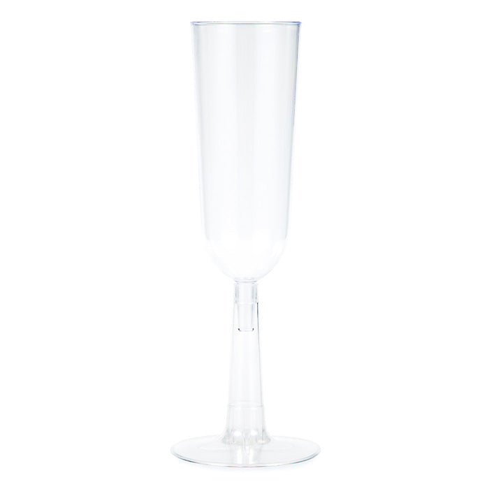 Clear Plastic Champagne Flutes, 7 Oz, 4 ct by Creative Converting